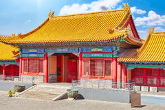 Palaces, pagodas inside the territory of the Forbidden City Muse Royalty Free Stock Photo