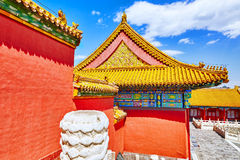 Palaces, pagodas inside the territory of the Forbidden City Muse Stock Images
