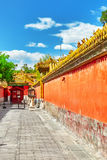 Palaces, pagodas inside the territory of the Forbidden City Muse Royalty Free Stock Image