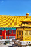 Palaces, pagodas inside the territory of the Forbidden City Muse Royalty Free Stock Photos