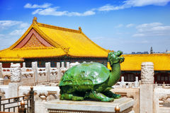 Palaces, pagodas inside the territory of the Forbidden City Muse Stock Photos