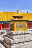 Palaces, pagodas inside the territory of the Forbidden City   Stock Image