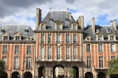 Palaces in Place des Vosges Stock Photography