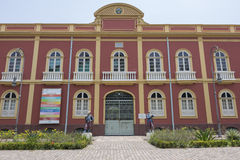 Palacete Provinciaal (Provinciale Manor) in Manaus, Brazilië Stock Afbeelding