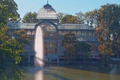 Palacio Cristal Retiro Madrid royalty free stock photo