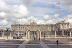 palacio дворца oriente de madrid изображает королевских принимая туристов Стоковая Фотография