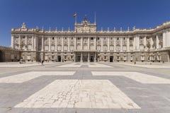 Palacio реальное в Мадриде Испании стоковое изображение