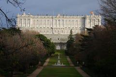 Palacio реальное в Мадрид Стоковые Изображения RF
