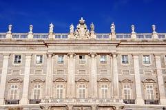 Palacio реальное в Мадриде, Испании Стоковое Изображение