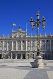 Palacio реальное - королевский дворец в Мадриде, Испании Стоковое Изображение