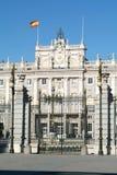 Palacio реальное на квадрате Armeria на Мадриде Стоковые Изображения RF
