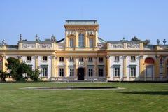 Palacio 3 de Wilanow Foto de archivo