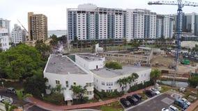Palacio aéreo Miami Beach de Roney de la cantidad almacen de metraje de vídeo