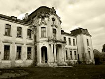 Palacio abandonado en Bielorrusia Imagenes de archivo
