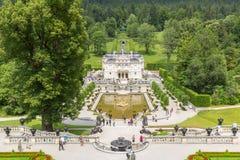 Palacio Alemania de Linderhof Fotografía de archivo libre de regalías