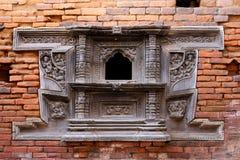 Palacio antiguo Windows de madera Fotografía de archivo