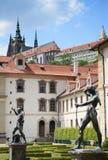 Palacio ayer barroco Praga de Wallenstein; Hoy, el senado de la República Checa está aquí y actúa del palacio principal Praga Foto de archivo libre de regalías