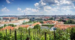 Palacio ayer barroco Praga de Wallenstein; Hoy, el senado de la República Checa está aquí y actúa del palacio principal Praga Fotografía de archivo