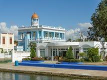 Palacio Azul building. At Punta Gorda in Cuba Royalty Free Stock Images