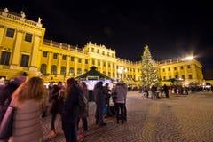 Palacio Christkindlmarkt de Schönbrunn Fotos de archivo