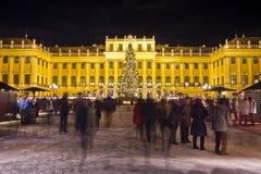 Palacio Christkindlmarkt de Schönbrunn Foto de archivo libre de regalías