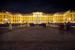 Palacio Christkindlmarkt de Schönbrunn Imagen de archivo libre de regalías