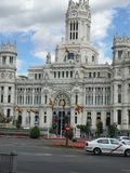 Palacio Cibeles, Madrid, Spain. City center, palace located in the Plaza Cibeles. Picture taken in Royalty Free Stock Photo