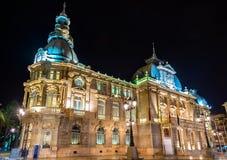 Palacio consistorial, el ayuntamiento de Cartagena, España Fotografía de archivo