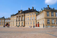 Palacio Copenhague de Amalienborg Imagen de archivo
