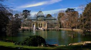 Palacio cristalino en Madrid Fotos de archivo libres de regalías