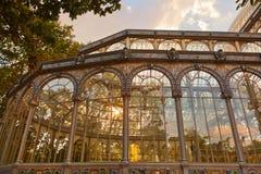 Palacio cristalino en Madrid España Foto de archivo