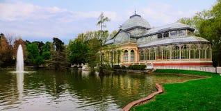 Palacio cristalino, Retiro, Madrid Foto de archivo