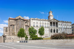 Palacio da Bolsa och kyrka Arkivfoton