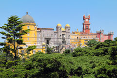Palacio da Pena in the forest Royalty Free Stock Image