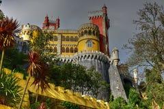 Palacio da Pena - Portugal. Palacio da Pena in Sintra, Lisboa, Portugal, Europe. It is a Romanticist castle in Sao Pedro de Penaferrim, in the municipality of Stock Photography