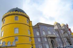 Palacio da Pena in Sintra (portugal). Palacio da Pena is a romanticist castle integrated into the cultural landscape of Sintra (Portugal royalty free stock photos