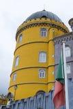 Palacio da Pena in Sintra (portugal). Palacio da Pena is a romanticist castle integrated into the cultural landscape of Sintra (Portugal royalty free stock photo