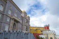 Palacio da Pena in Sintra (portugal). Palacio da Pena is a romanticist castle integrated into the cultural landscape of Sintra (Portugal stock photo
