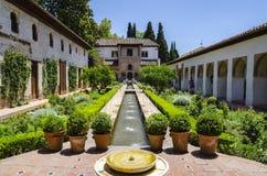 Palacio de Alhambra, Granada, España imagen de archivo