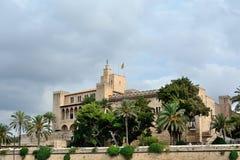Palacio de Almudaina del La en Palma de Mallorca Imagen de archivo libre de regalías
