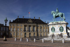 Palacio de Amalienborg en Copenhag Fotografía de archivo