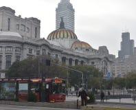 Palacio DE Bella Arts op een Mistige Dag Stock Foto