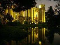 Palacio de bellas arte en la noche Imagen de archivo libre de regalías