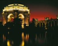 Palacio de bellas arte en la puesta del sol Fotos de archivo