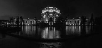 Palacio de bellas arte, panorama blanco y negro fotografía de archivo
