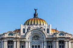 Palacio de Bellas Artes παλάτι Καλών Τεχνών - Πόλη του Μεξικού, Μεξικό Στοκ εικόνες με δικαίωμα ελεύθερης χρήσης