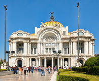 Palacio de Bellas Artes, a famous art gallery, music venue and theater in Mexico City Royalty Free Stock Photography