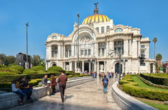 Palacio de Bellas Artes, a famous art gallery, music venue and theater in Mexico City. MEXICO CITY,MEXICO - DECEMBER 28,2016 : Palacio de Bellas Artes or Palace Royalty Free Stock Photography