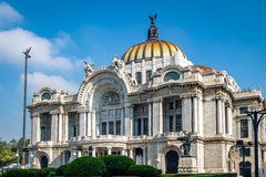 Palacio de Bellas Artes Fine Arts Palace - Mexico City, Mexico. Palacio de Bellas Artes Fine Arts Palace in Mexico City, Mexico Royalty Free Stock Photos