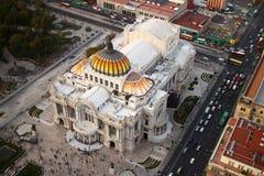 Palacio de Bellas Artes i Mexico - stad Arkivfoto